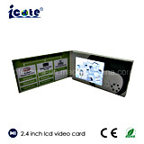 Personality Customized Design with 2.4 Inch LCD Video Brocbure for Business