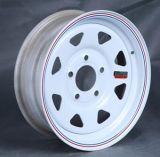 "Steel Trailer Wheel with - 15"" X 5"" Rim - 5 on 4-1/2 - White Powder Coat"