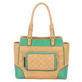 Fashion Contrast Color High Quality Shoulder Handbags (MBNO032082)
