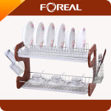 Two Layer Wooden Dish Rack (KR-001)