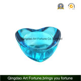 Printed Heart Shape Glass Candle Holder Gift for Valentine′s Day