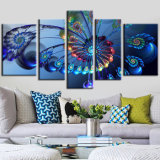 Canvas Painting 5 Piece Art Painting of Peacock for Living Room Canvas Prints Artwork Wall Decor