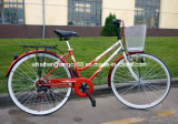 Rear 6 Speed Lady Bicycle with Good Quality (SH-CB079)