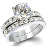 Hot Selling Silver Wedding Ring Sets for Her
