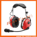 Heavy Duty Headset Over The Head Type with Boom Microphone for Two Way Radio