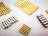 Male Solder Bucket Pin Brass Gold Plating Connector