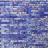 Mosaic Tile Glass Water Ripples Blue