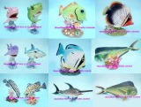 Polyresin Tropical Sealife of Fish Statue