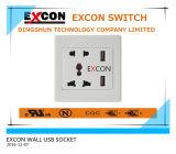 Universal Wall Socket with Double USB Wall Socket 110V-250V Wall Socket