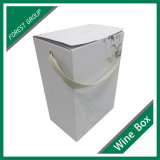 White Corrugated Carton Box with Handle