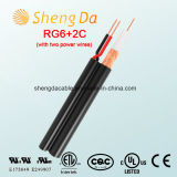 RG6 with Two Power Wires Security Coaxial CCTV Cable