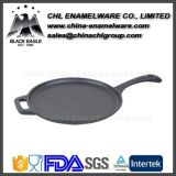 Healthy Non Stick Enamel Cast Iron Steak Pan with Handle