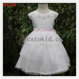 Embroidery Cake Long Tulle Dress for Party Wears Extendable