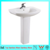 Popular Bathroom Sinks Ceramic Hand Wash Pedestal Basin