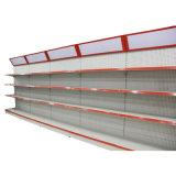 Single Side Supermarket Metal Island Pegboard Gondola Shelf