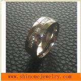 Lady Fashion Jewelry Stainless Steel Diamond Ring (CZR2521)