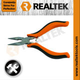 Nickel-Planted Mini Long Nose Pliers with Bi-Color Plastic Handles