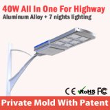 China Integrated Solar Street Lights Outdoor Parking Lot Lighting System Price List