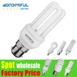 Supplier Hot Sale Cheap Wholesale 2u/3u/4u Energy Saving Lamp Bulb /T3/T4/T5 Full Half Spiral Tube LED CFL Lighting / E27/B22/E14/E40 Lotus Energy Saving Light