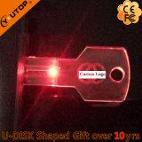 Popular Crystal Gifts LED Light Key USB Pendrive (YT-3213-09)
