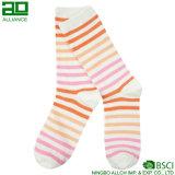 Ningbo Breathable Cute Stripes Wholesale Crew Socks