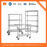 Four Layers Commercial Iron Chrome Wire Shelf