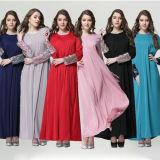 Women Muslim Ethnic Caftan, Arab Lace Stitching Abayas (A949)