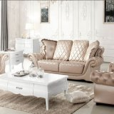 Simple European Living Room Leather Sofa Set