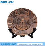Engraving Brass Decorative Plate Copper Plaque Indian Souvenir Gift