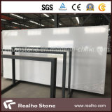 Snow White Pure White Artificial Quartz Stone Slab for Countertops