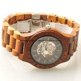 2017 Hot Sale Wood Clock Mechanical Wooden Wrist Watches Men