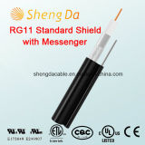 Rg11 Standard Shield with Messenger Outdoor Coaxial RCA Audio Cable