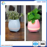 Smart Music Flowerpot Plastic Bluetooth Speaker Flowerpot with LED