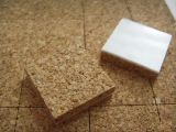 Cork Spacer Pads for Glass Industry, Glass Protection Cork Pads 18*18*3mm