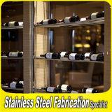Customed Sizes Stainless Steel Wine Bottle Display Rack for Bar