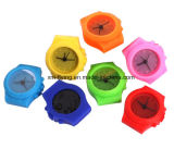 Watch Shape House Decor Promotion Gift Double Bell Alarm Silicone Clocks