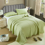 Washed Cotton Quilted Bed Spread, Quilted Coverlet