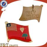 Custom Soft Enamel Epoxy Etching Flag Badge/Flag Badge/Badge Pin