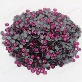 Bling Fuchsia Hotfix Glass Stones Self Adhesive Rhinestones Wholesale for Garment