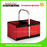 Polyester Tote Shopping Bags with Aluminum Frame