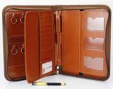 Brown Leather Zipper Key Case