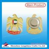 UAE Gold Eagle Magnetic Lapel Badge