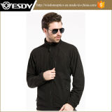 Black Tactical Autumn Windproof Breathable Jacket Warm Grid Fleece Coat