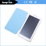 7 Inch 3G Phone Calling Android Tablet with Leather Cover and Dual SIM Card Slot 2.0MP Camera