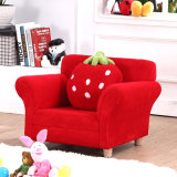 Single Seat Strawberry Living Room Fabric Children Furniture (SXBB-303)