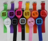 Wholesale New Design Changeable Face Silicone Jelly Watch