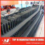 Vertical Angle Black Rubber Sidewall Conveyor Belt