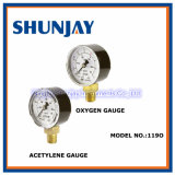 (Use No Oil) Oxygen and Acetylene Pressure Gauge