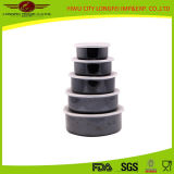 Black Color 5PCS Enamel Bowl for Frozen Cold Food