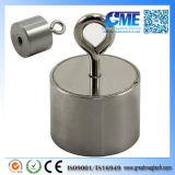 Powerful NdFeB M5 Eyebolt D40X29mm Pot Magnet